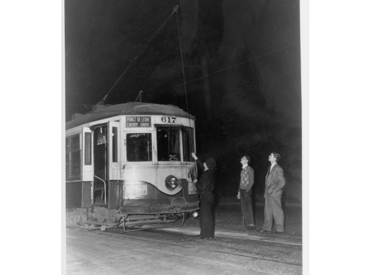 The streetcar used to run from Briarcliff Road along Oxford Road to Emory Village.