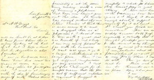 Candler letter to Griggs