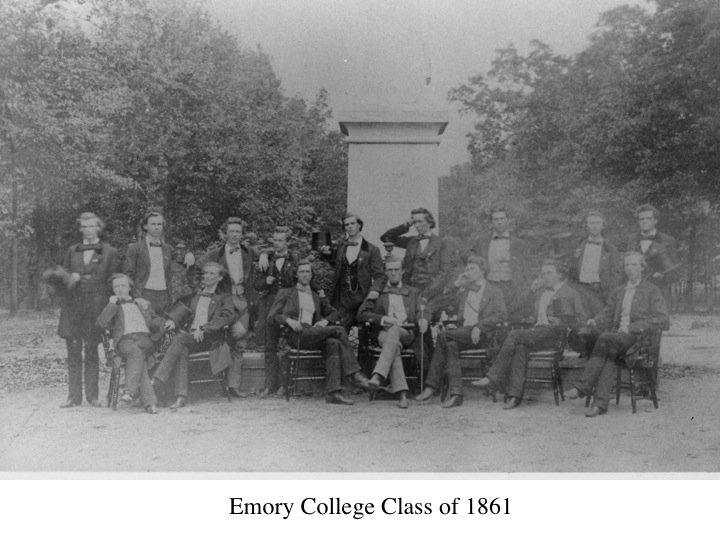 Posed in front of the Few Monument in front of Seney Hall.