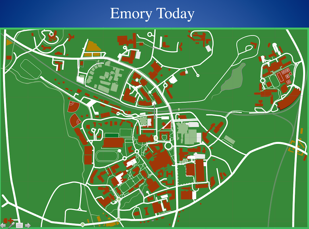 Campus Map Emory Historian S Blog