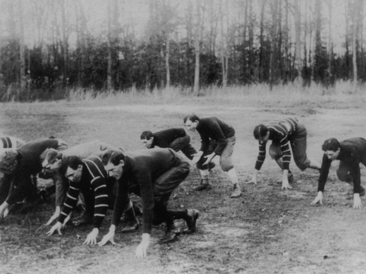 Emory has never played intercollegiate football, owing to President Candler's adamant opposition in the 1890s.
