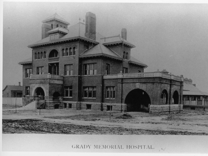 Georgia Hall, still standing on Jesse Hill Jr. Drive (formerly Butler Street), was the original home of Atlanta's public hospital.