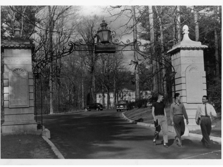 Constructed in 1937, the gate was the gift of Linton Robeson, Class of 1886, in tribute to the two  presidents during his time at Emory.