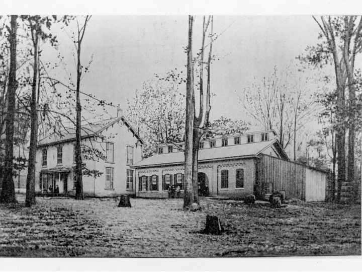 Named for President Isaac Stiles Hopkins, this building housed the Department of Toolcraft and Technology.