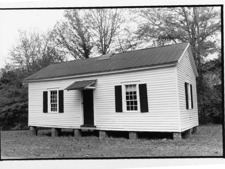 This cabin was home to the enslaved woman Catherine Andrew Boyd, whose ownership by a Methodist bishop caused a split in the church in 1845.