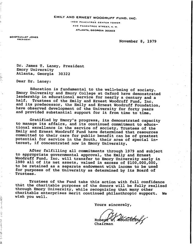 Woodruff letter of November 1979