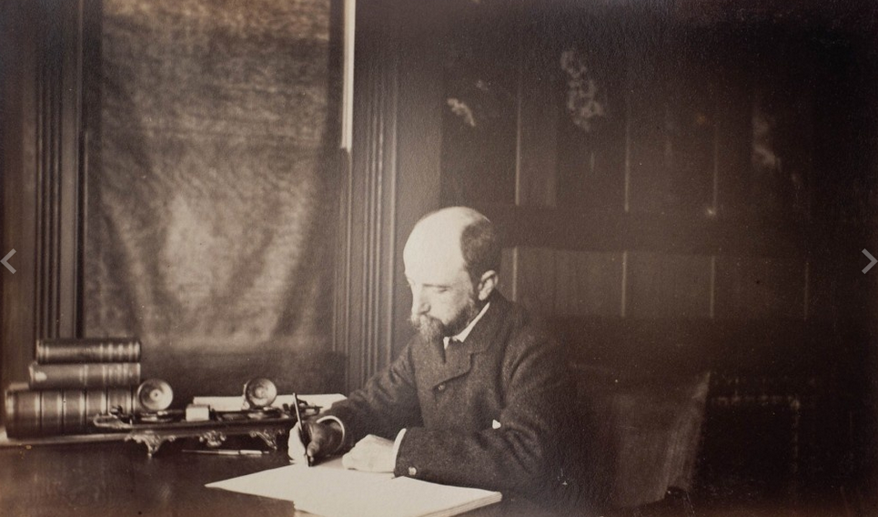 Henry Adams, photo by Marian Hooper Adams, courtesy of Massachusetts Historial Society