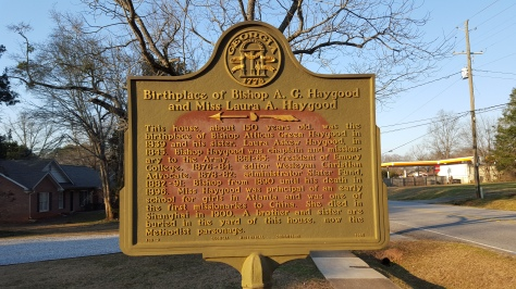 Haygood historical marker