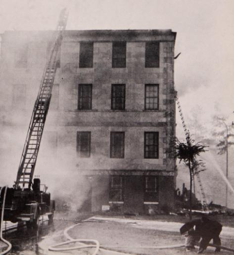 Admin Bldg fire 1956