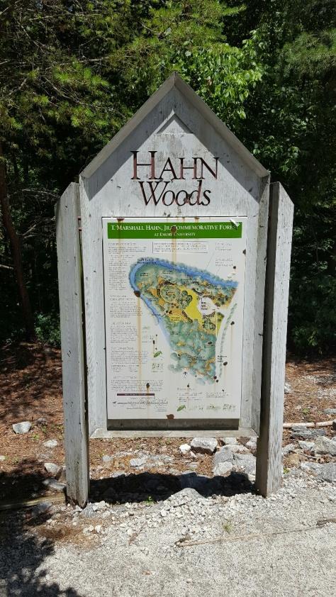 Hahn Woods marker