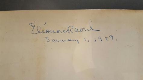 Raoul signature 1929