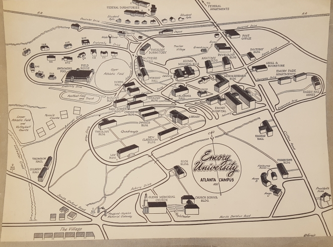 Campus map 1950