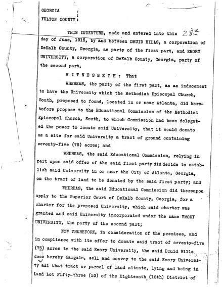 Deed, 1915 original Emory Atlanta campus, 75 acres copy